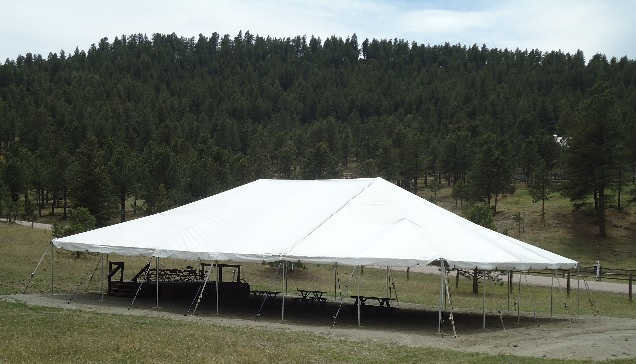 The Big Tent is perfect for larger gatherings with a rustic theme and offers access to outside activity stations. & Colorado Weddings and Events Rent the Humphrey Museum Grounds